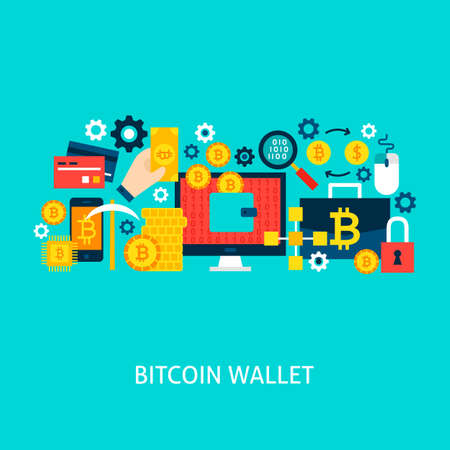 Bitcoin Wallet Vector Concept