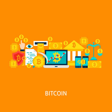Bitcoin Vector Concept Stockfoto - 92171342