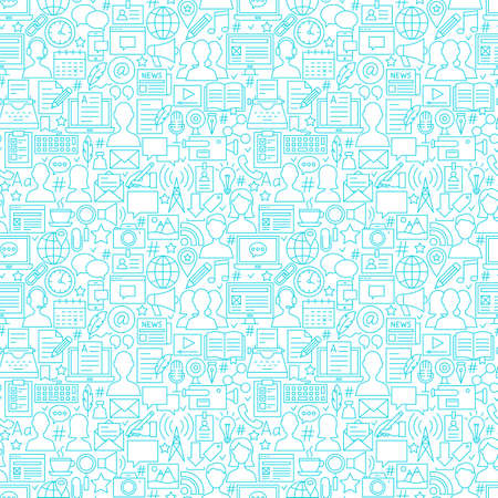 Blog White Line Seamless Pattern
