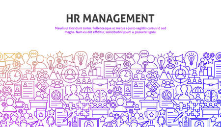 HR Management Concept design template