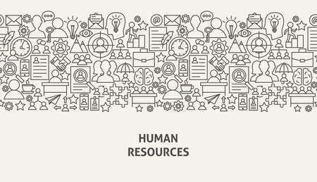 Human Resources Banner Concept Vector illustration. Banco de Imagens - 96087446