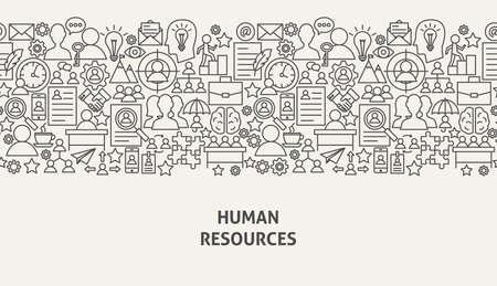 Illustrazione di vettore di concetto dell'insegna delle risorse umane.