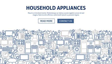 Household Appliances Banner Design.