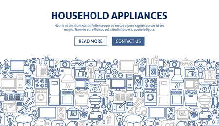 Household Appliances Banner Design.