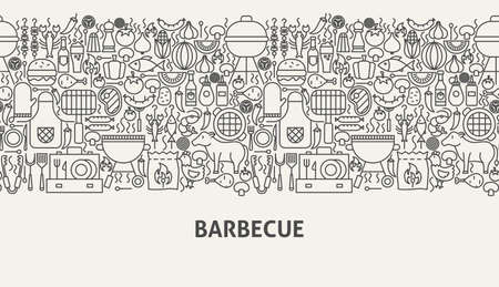 Barbecue Banner Concept Illustration
