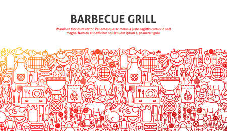 Barbecue Grill Concept Vectores