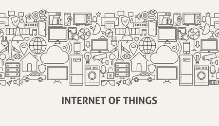Iot Banner Concept Ilustrace
