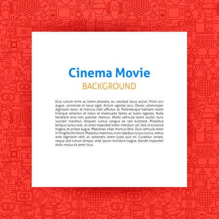 Cinema Movie Paper Template Stock Illustratie