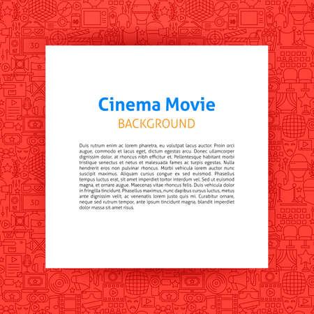Cinema Movie Paper Template Illustration