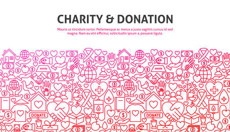 Charity and Donation Concept Illustration