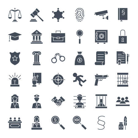 Law Justice Solid Web Icons
