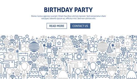 Birthday Party Banner Design