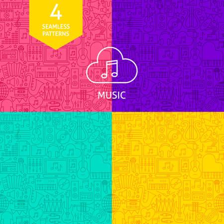 Line Music Patterns