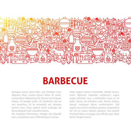 Barbeque Line Design Template