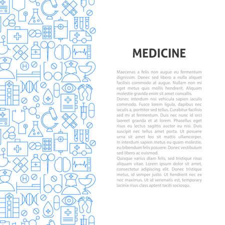 Medicine Line Pattern Concept. Vector Illustration of Outline Design.