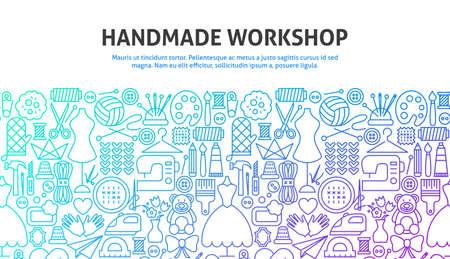 Concept d'atelier fait main Vecteurs