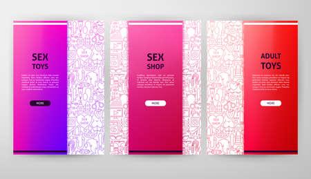 Sex Toys Brochure Web Design 写真素材 - 115913553