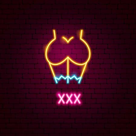 XXX Neon Label