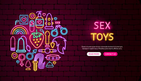 Sex Toys Neon Banner Design
