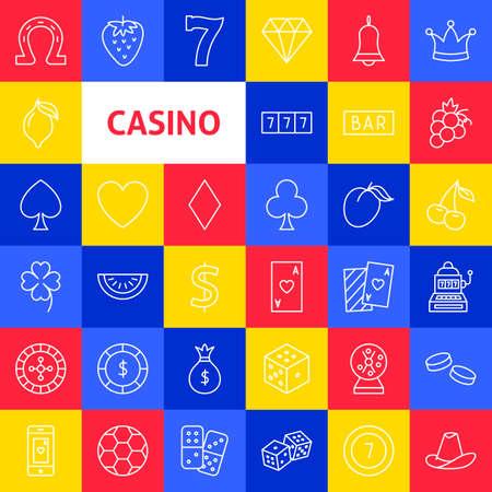 Vector Casino Line Icons