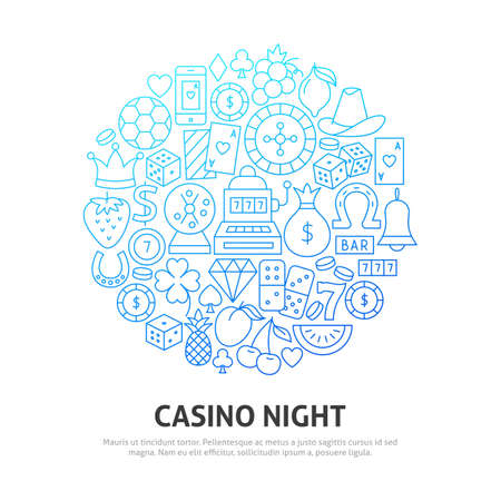 Night Casino Circle Concept Illustration