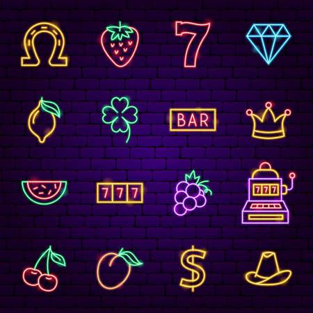Casino Neon Icons