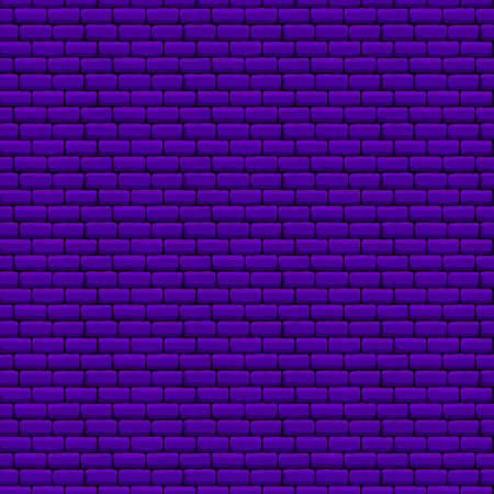Purple Brick Wall Seamless Texture. Vector Illustration of Industrial Background. Иллюстрация