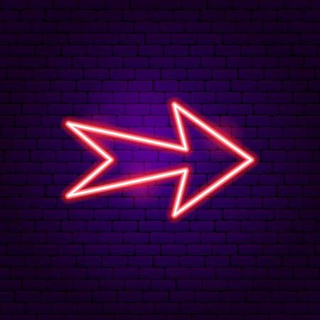 Arrow Neon Label