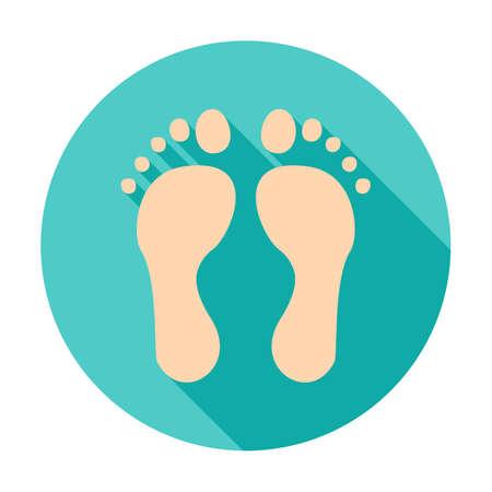 Feet Circle Icon