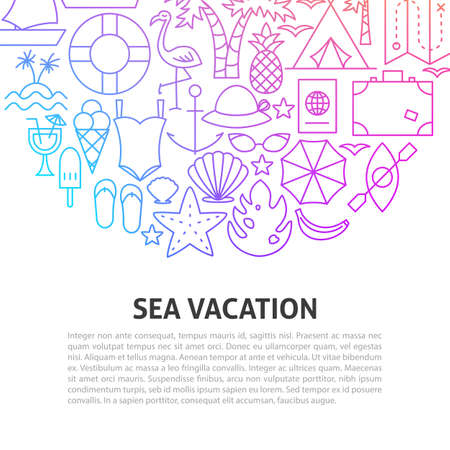 Sea Vacation Line Concept