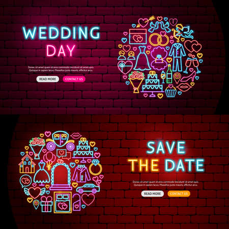 Wedding Website Banners Illustration