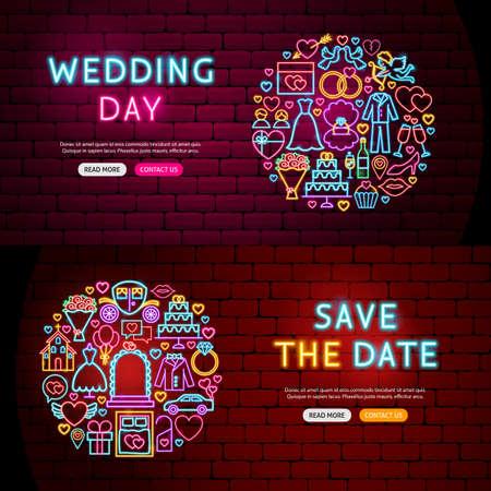 Wedding Website Banners Иллюстрация