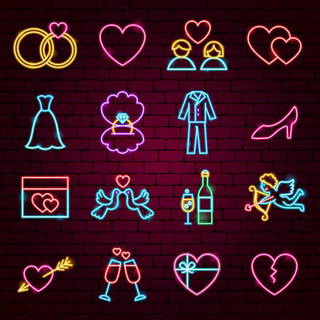Wedding Neon Icons