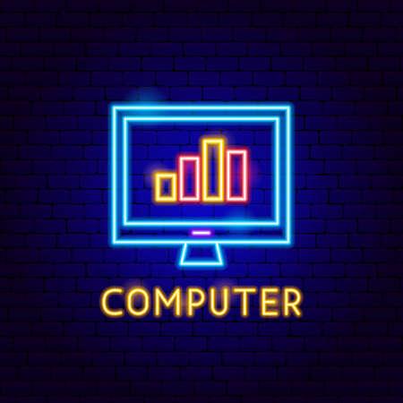 Computer Neon Label