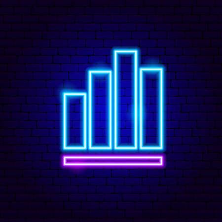 Column Graph Neon Sign  イラスト・ベクター素材