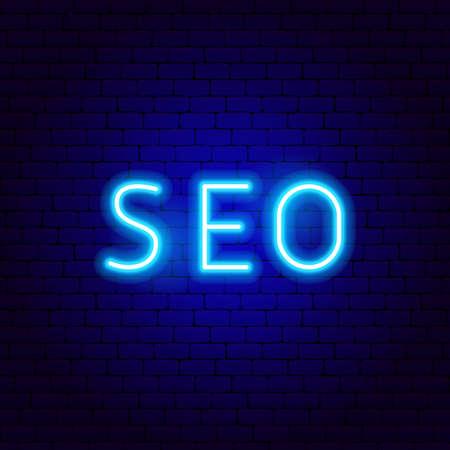Seo Neon Text