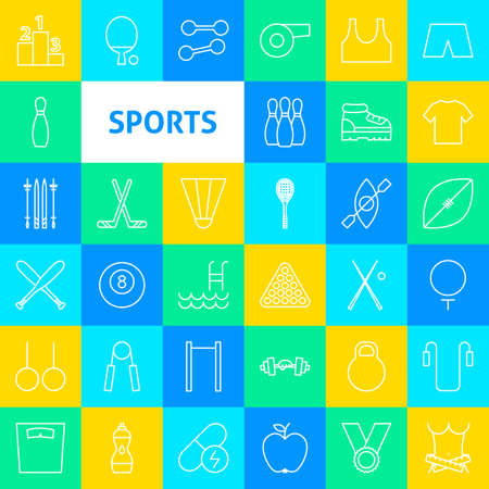 Vector Sports Line Icons