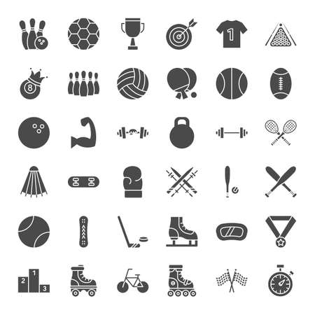 Sport Solid Web Icons 写真素材 - 129945437