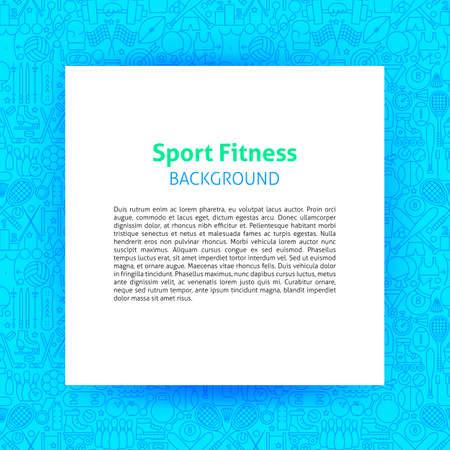 Sport Fitness Paper Template 写真素材 - 129945701