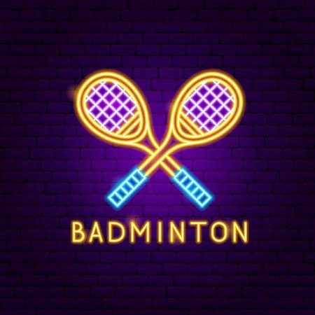 Badminton Neon Label