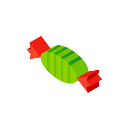 Sweet Candy Isometric Object. Vector Illustration of Food Sign Isometry.