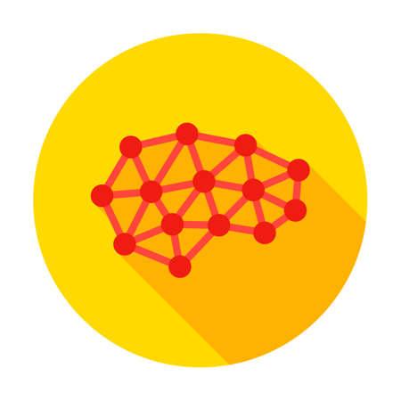 Human Brain Structure Circle Icon