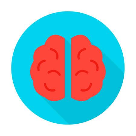 Human Brain Circle Icon Ilustrace