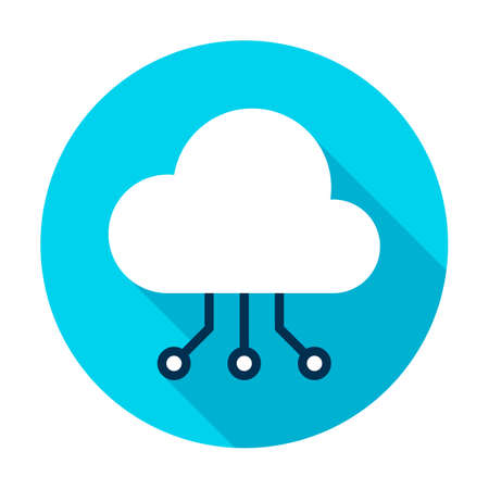Cloud Computing Connection Circle Icon Ilustrace