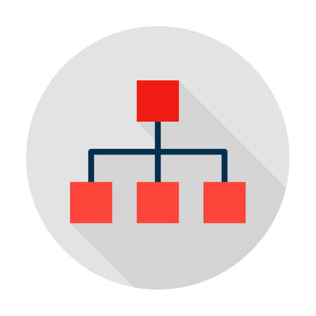 Classification Graph Circle Icon Ilustrace