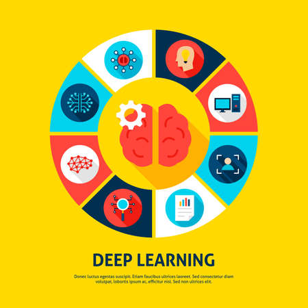 Deep Learning Concept Icons 일러스트