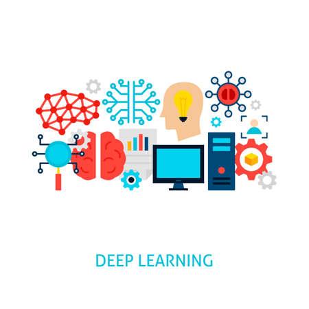 Deep Learning Vector Concept 일러스트