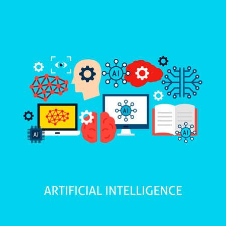 Artificial Intelligence Vector Concept