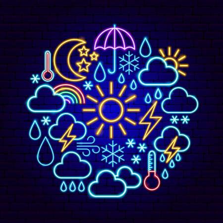 Weather Neon Concept