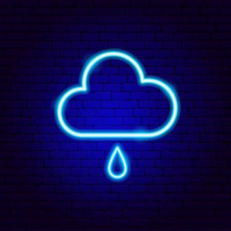 Rainy Cloud Neon Sign